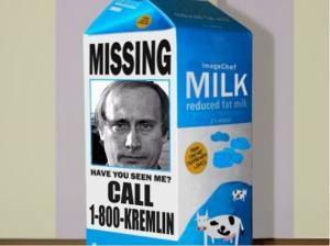 Putin on Milk carton